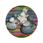 """Trumpeters Three 3.5"""" Button"""