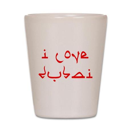 I Love Dubai Shot Glass