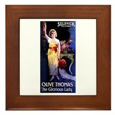 The Glorious Lady Framed Tile