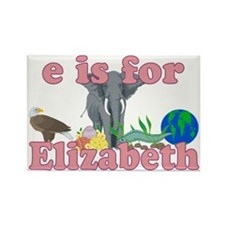 E is for Elizabeth Rectangle Magnet