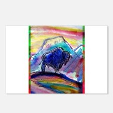 Buffalo, bright, Postcards (Package of 8)