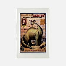 Gertie The Dinosaur Rectangle Magnet