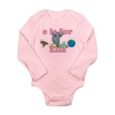 E is for Ella Long Sleeve Infant Bodysuit