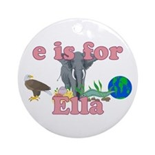 E is for Ella Ornament (Round)