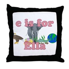 E is for Ella Throw Pillow