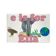 E is for Ella Rectangle Magnet
