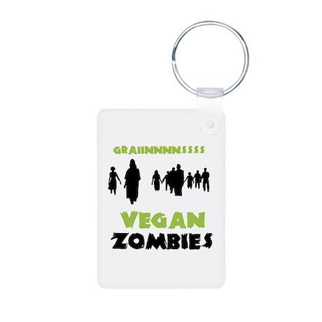 Vegan Zombies Aluminum Photo Keychain