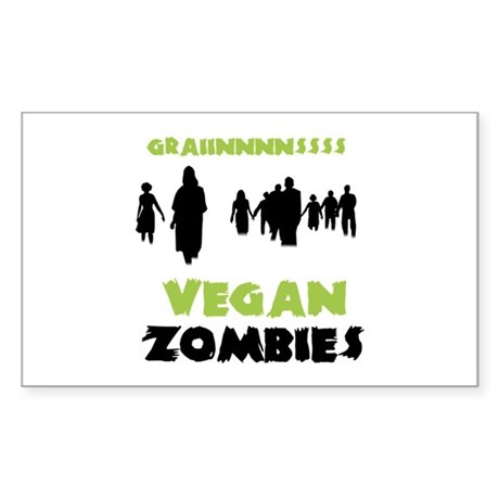 Vegan Zombies Sticker (Rectangle 10 pk)