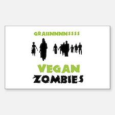 Vegan Zombies Sticker (Rectangle)