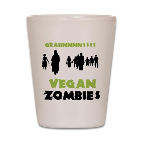 Vegan Zombies Shot Glass
