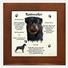 Rottie 1 Framed Tile