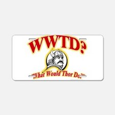 WWTD? Aluminum License Plate