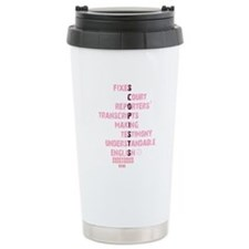 SCOPISTS MAKE SENSE OF OUR TRANSCRIPTS! Travel Mug