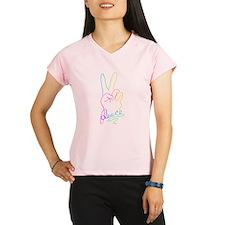 Rainbow Peace Sign Women's double dry short sleeve