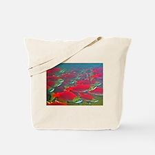 Sockeye Salmon Spawning Run Tote Bag