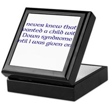 Want a child with DS Keepsake Box