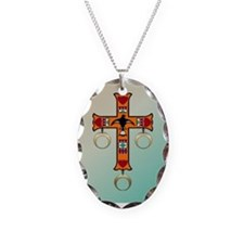 Cherokee Cross Necklace Oval Charm