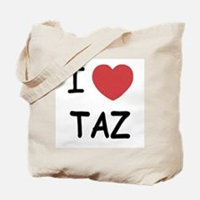 I heart taz Tote Bag
