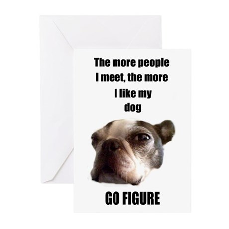 THE MORE I LIKE MY DOG (BOSTON TERRIER) BIRTHDAY C