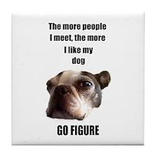 THE MORE I LIKE MY DOG (BOSTON TERRIER) Tile Coast