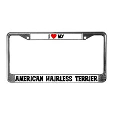 American Hairless Terrier License Plate Frame