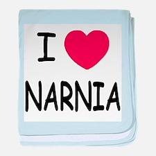 I heart narnia baby blanket