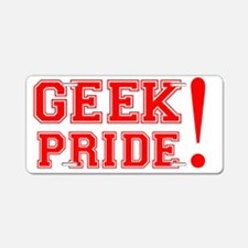 Geek Pride Aluminum License Plate