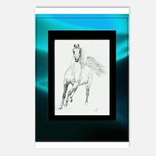 Freedom Trotting Arabian Turquoise Postcards (Pack