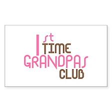 1st Time Grandpas Club (Pink) Decal