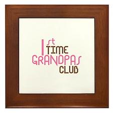 1st Time Grandpas Club (Pink) Framed Tile
