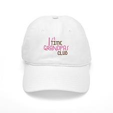 1st Time Grandpas Club (Pink) Baseball Cap