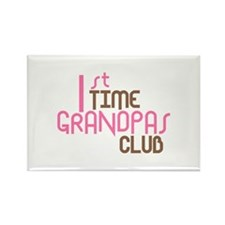 1st Time Grandpas Club (Pink) Rectangle Magnet