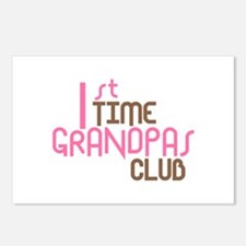 1st Time Grandpas Club (Pink) Postcards (Package o