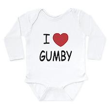 I heart gumby Long Sleeve Infant Bodysuit