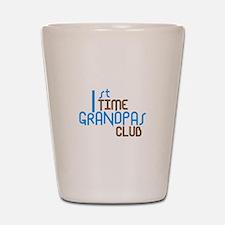 1st Time Grandpas Club (Blue) Shot Glass