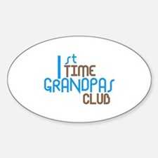 1st Time Grandpas Club (Blue) Decal