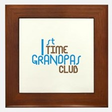1st Time Grandpas Club (Blue) Framed Tile