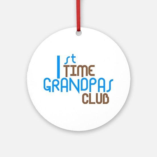 1st Time Grandpas Club (Blue) Ornament (Round)
