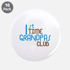 "1st Time Grandpas Club (Blue) 3.5"" Button (10 pack"