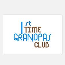 1st Time Grandpas Club (Blue) Postcards (Package o