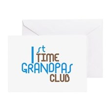 1st Time Grandpas Club (Blue) Greeting Card