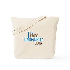 1st Time Grandpas Club (Blue) Tote Bag