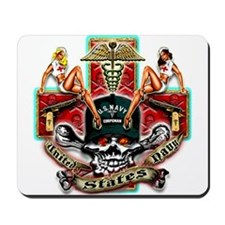 US Navy Corpsman Skull Mousepad
