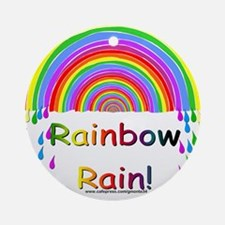 Rainbow Rain Ornament (Round)