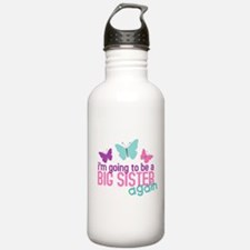 big sister again butterfly Water Bottle