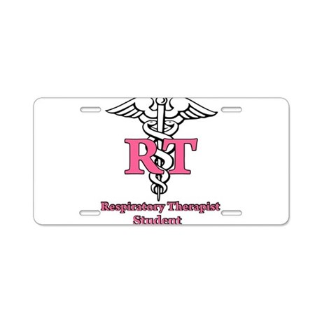 Respiratory Therapy Student Aluminum License Plate