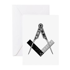 English Style Square and Compass Greeting Cards (P