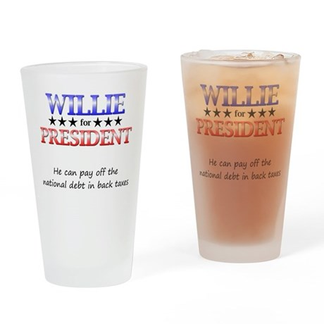 Willie For President Pint Glass