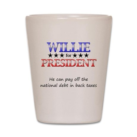 Willie For President Shot Glass