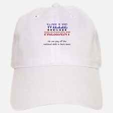 Willie For President Baseball Baseball Cap
